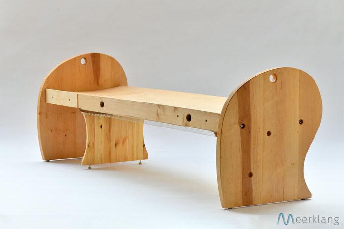 Setup as bed, diagonal view - Manufactory Meerklang