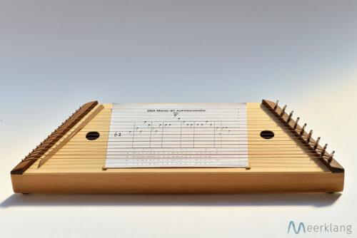 Liederharfe mit Notenblatt - Manufaktur Meerklang